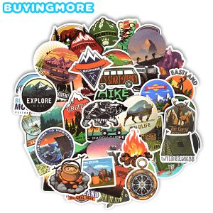 50pcs Outdoor Camping Landscape Stickers