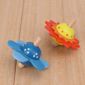 Kids Wooden Flower Spinning Top