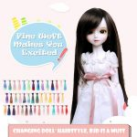 1pc 15x100cm Straight Synthetic Fiber Doll Wig Hair