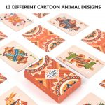 Poker Deck Playing Cards Board Games Party Animal Puzzle Board Game Bright Colors For Kids & Adults Card Decks Games