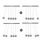 Table Newton Cradle Balance Steel Balls Board Games for Children Adults Kids Educational Toys Desk Play Board Game Gifts