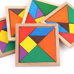 3D Wooden Puzzles Board Games for Children Kids Montessori  Puzzle Game Toys Children Funny Jigsaw Magic Card Game
