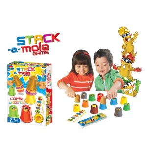 Family/Party Stack Mole Board Game