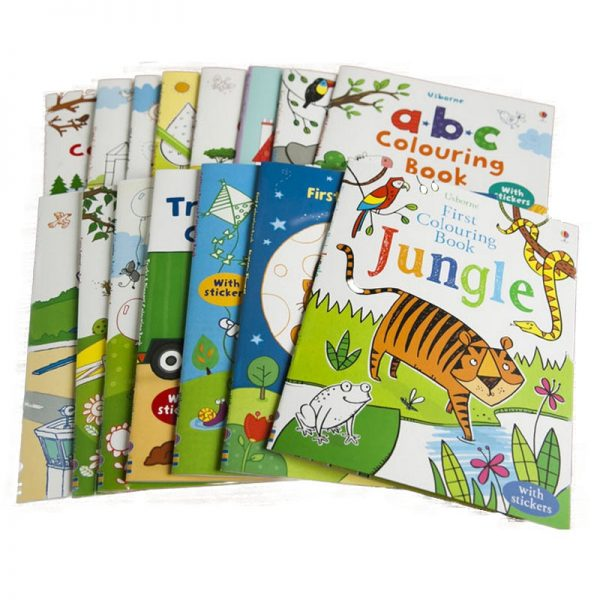 5 Books Set Usborne First Coloring Book