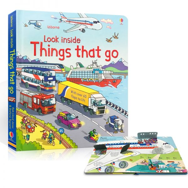 3D Usborne Look Inside Things That Go Coloring Book