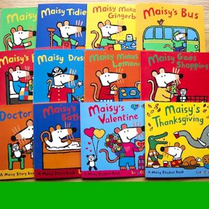 12 Books Set Maisy Children Sticker Story Book